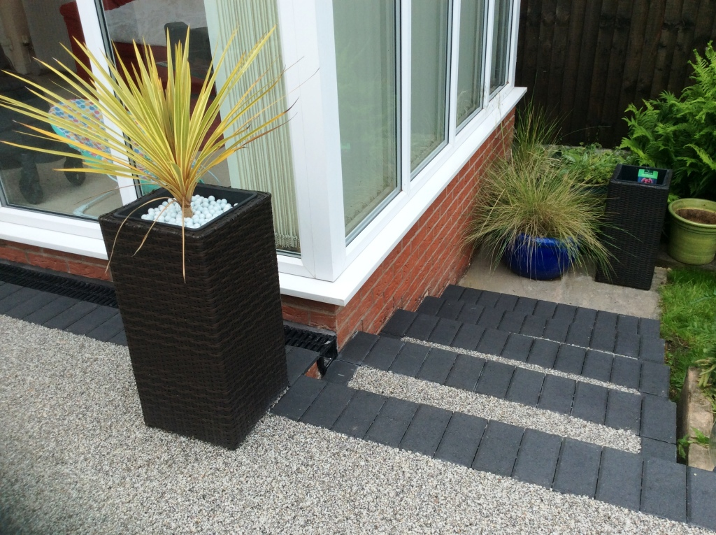 Resin Patio In Daltex With Charcoal In Lancaster
