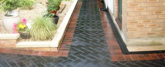 Charcoal Blockpaving with Brindle Edging