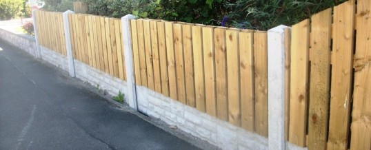 Fencing in Heysham Village