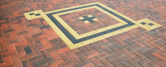 Heysham Blockpaving Brindle with Charcoal Pattern