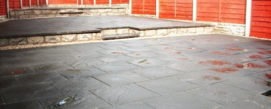 Lancaster Paving in Charcoal in Pollard Place