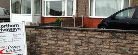 Walling in Heysham