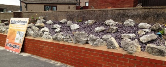 Walling in Chequers Avenue Lancaster