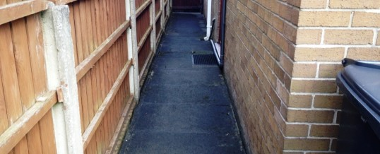 Kennedy Close Lancaster Pathway…Before