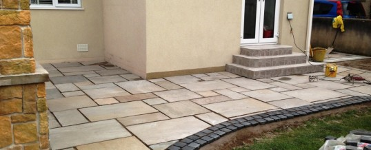Indian Paving at Glentworth Road East Morecambe