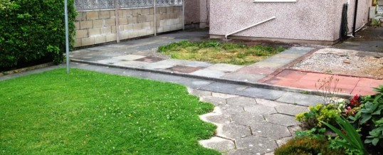 Paving at Balmoral Road Morecambe…Before