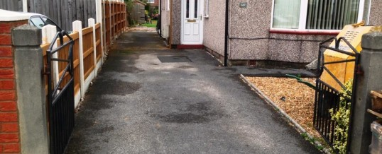 Picture Frame tarmac Balmoral Rd Morecambe…Before