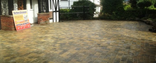 Abbey Sett Paving in Burnt Willow at Torrisholme Road Morecambe 6
