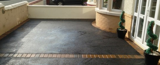 Picture Frame tarmac with Bracken Block Pavers Morecambe