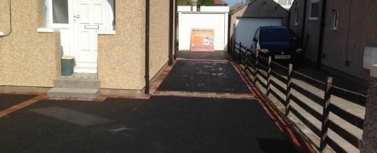 Picture frame Tarmac with brindle borders Thirlmere Drive Morecambe
