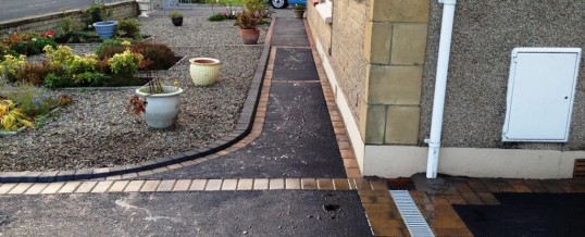 Oak Ave Picture Frame Tarmac with Bracken Borders2