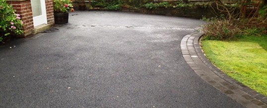 Peacock Lane Picture Frame Tarmac with Charcoal Abbey Sett Borders3