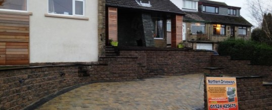 Abbey Sett Tegular Paving in Burnt Willow with Charcoal Borders Newlands Road Lancaster