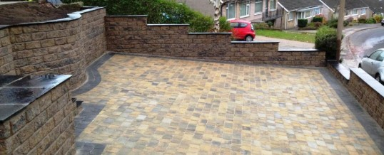 Calder Brown Walling with Black Sandstone Copings Newlands Road Lancaster