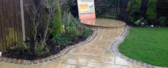 Marshall's Heritage Paving with Natural Stone Borders Aire Close Grosvenor Park Morecambe