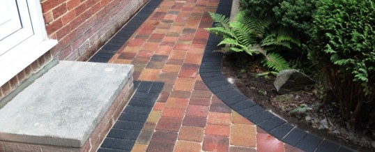 Abbey Sett paving in Orchard Flame with Charcoal Borders in Bowerham Lancaster