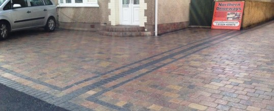 Abbey Sett paving in rustic with charcoal borders 2 in Greaves Lancaster