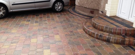 Abbey Sett paving in rustic with charcoal borders 4 in Greaves Lancaster