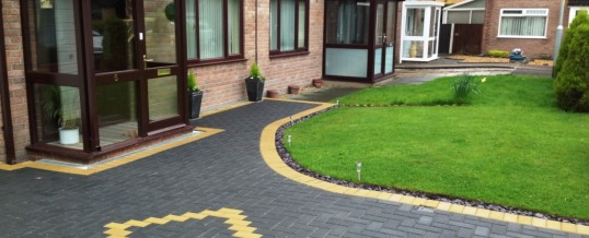 Block Paving in Charcoal with Buff Borders 2 in Westgate Morecambe