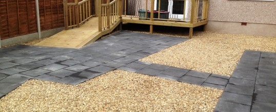 Paving with Charcoal Flags and Landscaping 2 in Westgate Morecambe