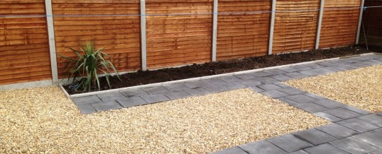 Paving with Charcoal Flags and Landscaping in Westgate Morecambe