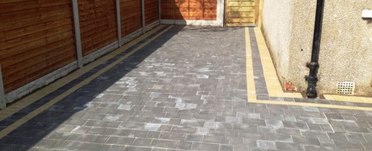 Petra Paving in Charcoal with double buff borders 3 in Halton Lancaster