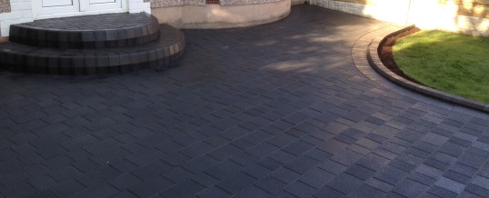 Petra Paving in charcoal 3 in Greaves Lancaster