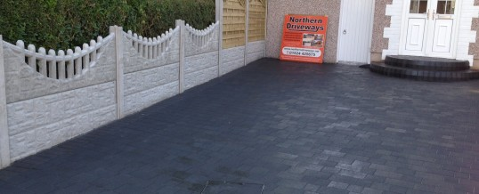 Petra Paving in charcoal in Greaves Lancaster