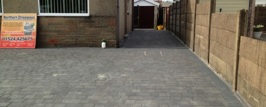 Charcoal Petra Paving with Charcoal borders 2 in Westgate Morecambe