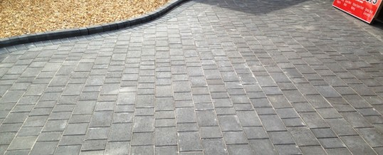 Charcoal Petra Paving with Charcoal borders Westgate Morecambe