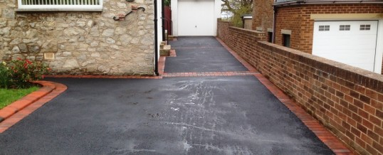 Picture Frame Tarmac with Brindle Borders in Hest Bank Bolton le Sands