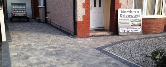 Ash Petra Paving with charcoal borders 2 Bare Morecambe