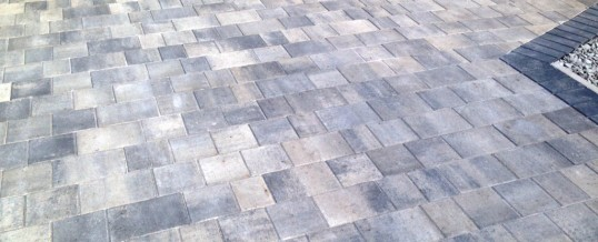 Ash Petra Paving with charcoal borders Bare Morecambe