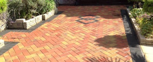 Block Paving Autumn Mix with Charcoal borders 2 Greaves Lancaster