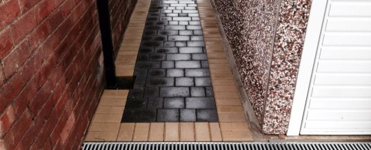Petra paving with buff borders 2 Westgate Morecambe
