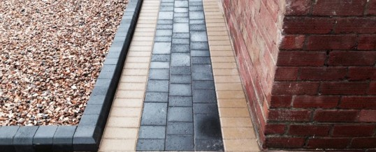 Petra paving with buff borders 4 Westgate Morecambe