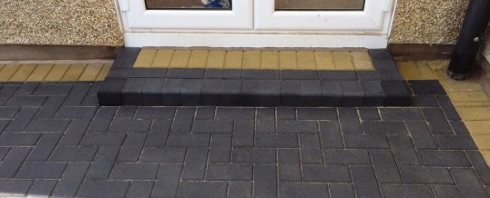 Block Paving Charcoal with Buff Borders in Carnforth
