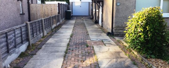 Picture Frame Tarmac with Brindle Borders … before