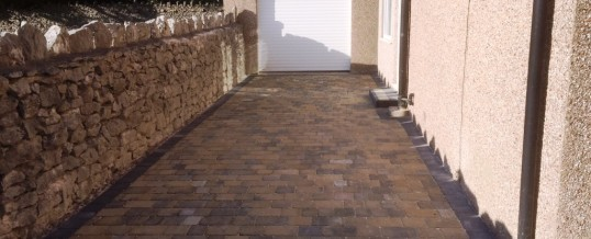 Abbey Paving  Burnt Willow Charcoal Borders