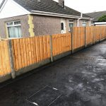 Picture frame tarmac with charcoal paving and new fencing in Westgate Morecambe